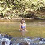Jen Mae in the Wolgan River