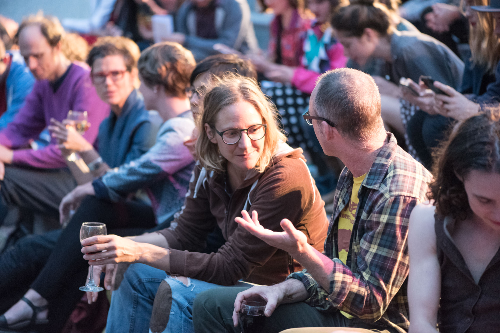 Audience chatting